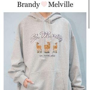 St. Moritz Brandy Melville hoodie *rare